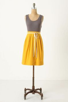 pretty gray and yellow dress by terra