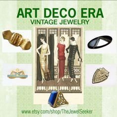 Love the sleek clean lines of #ArtDeco #Vintage #Jewelry  #TeamLove