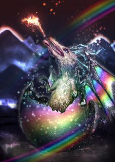 big rainbow dragon wallpaper - photo #41