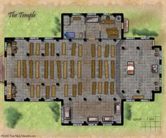 The Temple of Desna--The ornate and massive Temple dedicated to Tibbori, run by the political minded Gleep Wurp and the divinely powerful Capprotti. Both men forces to be reckoned with.