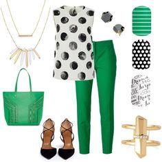 Green Thumb by aoharajams on Polyvore featuring Dolce&Gabbana, Aquazzura, Stella & Dot, stelladot and jamberry
