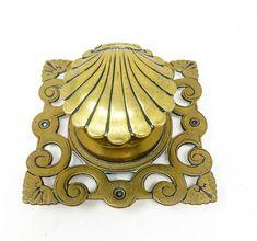 Solid brass antique desk top decorative ink well Antique Desk, Solid Brass, Ink, Antiques, Interior, Design, Decor, Indoor, Decoration