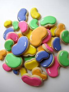Items similar to A Pound of Jelly Bean Decorated Cookies on Etsy