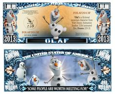 Novelty Money 25 Bills Animation Movies Set Aladdin Lion King Olaf Frozen And More Disney Movies Good Animated Movies, Japanese Animated Movies, Frozen Film, Disney Frozen, Olaf Frozen, Disney Images, Disney Art, Monopoly, Optimus Prime Toy