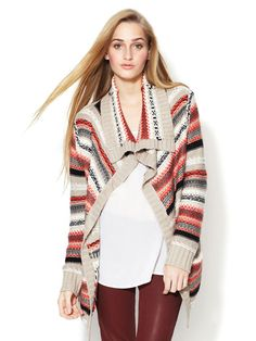 Neo Intarsia Open Front Cardigan by Greylin on Gilt.com
