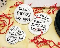 KY Kentucky Derby Party Talk Derby to Me Button Horse Racing Race Favor Bridal Shower Favors, Bridal Showers, Kentucky Derby, Derby Pie, Bachelorette Party Planning, Ali Bachelorette, Run For The Roses, Derby Party, Horse Racing