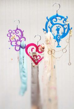 Sparkling accessory hangers!