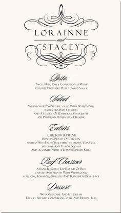 valentine's day menu font