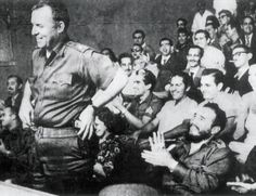 William Alexander Morgan being applauded by Fidel Castro, in Havana in 1959. Morgan said that he had joined the Cuban Revolution because