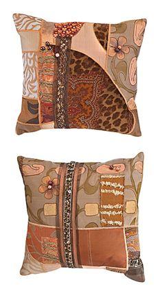 Copper Velvet & Silk Pillows :: Kathryn Schumacher Designs