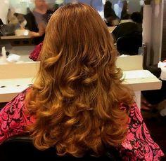 long red layered haircut