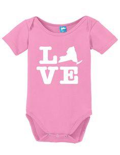 New York Love Onesie Funny Bodysuit Baby Romper