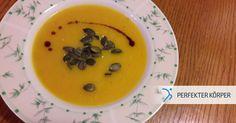 👌👌 HERBSTZEIT IST SUPPENZEIT 😌  Unwiderstehlich leckere Kürbissuppe mit Ingwer, die deinen Körper von Innen aufwärmt und dich vor Erkältungen schützt! 😊 (y)