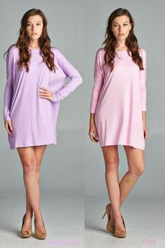 This contemporary tunic will become your everyday piece this winter and spring! The cut is universally flattering, the length goes perfect with leggings or skinny jeans, and the fabric is so soft you'll want to sleep in it. Once you've worn it once, you will want one in every color to wear everyday. It is our best selling product EVER for a reason!Loose fit throughout with fitted sleeves to the upper arm.Ballet style neck.96% rayon and 4% spandex.Hand wash cold, hang dry.&n...