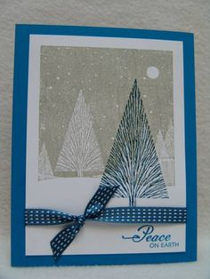 CC394 Peaceful Trees by suen - Cards and Paper Crafts at Splitcoaststampers