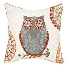 Owl motif and Suzani medallion detailed pillow