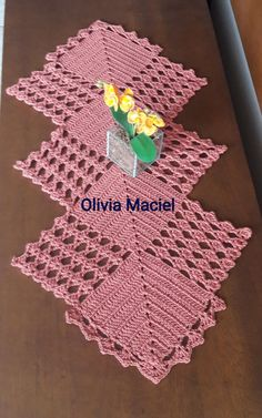 Table centerpiece crochet doily french decor - housewarming crochet rose gift for wife - rose table decoration crochet anniversary runner Diy Crafts Crochet, Crochet Home, Crochet Projects, Crochet Gifts, Crochet Table Runner Pattern, Crochet Tablecloth, Crochet Square Patterns, Crochet Motif, Lace Doilies