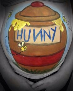Pregnant Belly Painting I Did Figueroa Stuart Simpson Face Painting Tutorials, Face Painting Designs, Easter Paintings, Christmas Paintings, Winnie The Pooh Drawing, Bump Painting, Pregnant Belly Painting, Pregnancy Art, Pregnancy Photos