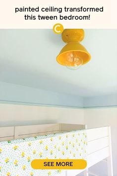 A painted ceiling, like this one in Headspace by Clare, adds a pop of color to any bedroom. This tween bedroom makeover is a must-see. Full of bedroom decor ideas for your tween or teen.#bedroommakeover #bedroompaintcolors #bluepaintcolors Raw Wood Furniture, Custom Furniture, Picture Rail Molding, Best Blue Paint Colors, Colored Ceiling, Bedroom Paint Colors, Headspace, Modern Spaces, Tween