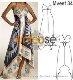 Resultado de imagen para moldes de vestidos corte pañoleta para dama gratis