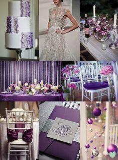 Purple wedding themes lime green weddings and green weddings on pinterest - Purple and silver color scheme ...