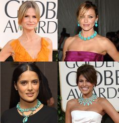 turquoise jewelry inspiration  You can wear it anywhere...even on the red carpet at the Golden Globes!