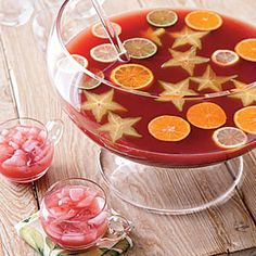 Star fruit punch for Bri's 1st birthday star party. Love it! NA during the party of course--and then spiked for whoever wants to stay late :)