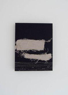 Japanese modern art ..Quiet Lake.. Original Textile by RUCNIjapan