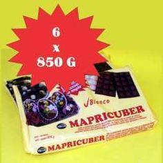 Categoría: Chocolates - Producto: Chocolate Baño Moldeo Blanco - Envase: Caja - Presentación: 6 X 850 G - Marca: Mapricuber