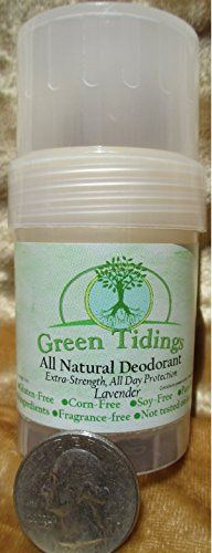 Green Tidings All Natural Deodorant, Extra Strength 24 Hour Protection (1 Ounce Lavender) Green Tidings http://www.amazon.com/dp/B00EOAZZYS/ref=cm_sw_r_pi_dp_d9Bcub1M4461T