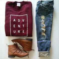 Excited to wear this for the fall!! Sweater: oliviaroseinc °° jeans: ilovefashionq °° boots: makemechic