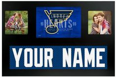 St. Louis Blues NHL Jersey Nameplate Custom Picture Frame