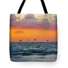 """Floating on Air Tote Bag 18"""" x 18"""""""