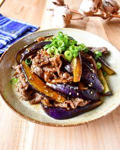 油は大さじ2【とろとろ♪ナスと牛肉の焼き肉炒め】 | つきの家族食堂 〜ごはんとおやつと〜 Pulled Pork, Bento, Beef Recipes, Cooking, Ethnic Recipes, Foods, Drinks, Ideas, Food