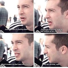 Tyler talking about making himself sad