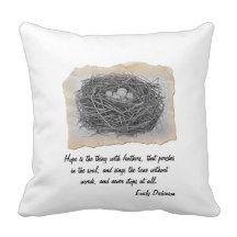 Emily Dickinson Nest Pillow
