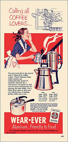 1953. COLLEGE EDUCATED?! That coffee must be delicious, since the coffee pot was based on science and stuff.