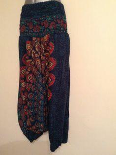 Harem Hippie Boho Jaipuri Aladdin Genie Yoga Pants Trousers Gypsy 8 10 12 14 16 | eBay Hippie Pants, Hippie Boho, Bohemian, Yoga Pants, Harem Pants, Trousers, Genie Aladdin, Gypsy, Holidays
