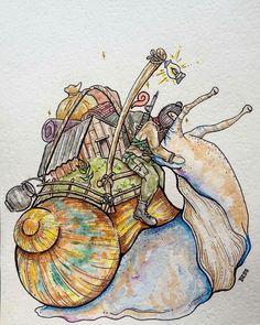 Pumpkin Planter, Rooster, Street Art, Moose Art, Illustration, Hero, Snails, Animals, Sketch