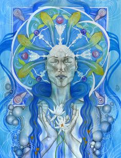 """Book of Shadows: """"Materia Water,"""" by Patricia Ariel. Wiccan, Pagan, Magick, Namaste, Psy Art, Water Element, Visionary Art, Book Of Shadows, Graphic"""