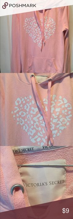 Victoria's Secret hoodie In good used condition has no rips or stains but does show signs of wear but I think the price is fair Victoria's Secret Sweaters
