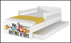 Disney children's bed Mickey Friends - white – Kiddymill Magical Room, Childrens Desk, Mattress Frame, Bed With Drawers, Mickey And Friends, How To Make Bed, Kid Beds, Cot, Kids Bedroom