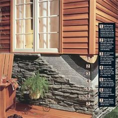 Behind-the-scenes materials to install faux stone facing