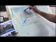 Como pintar acuarela paso a paso. . Watercolor tutorial. http://ricardoazkargorta.blogspot.com.es/ - YouTube