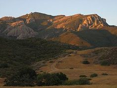 Mount Boney in Newbury Park, California - awesome place to hike or mountain bike! The view from our first home