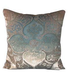 """Kevin O'Brien Pillow, Persian Velvet Robin's Egg, 20"""""""