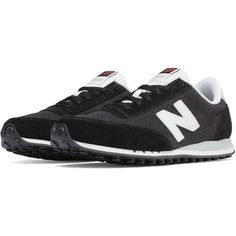 New Balance 410 70s Running Suede Women's Running Classics Shoes ($65) ❤ liked on Polyvore featuring shoes, athletic shoes, new balance shoes, new balance athletic shoes, suede leather shoes, retro shoes and new balance