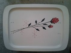 Vintage Metal Atomic Rose Lap/TV Tray by TheJunkEmporium on Etsy Vintage Tv Trays, Vintage Metal, White Tray, Metal Trays, Serving Trays, Red Roses, Scrap, Christmas, Etsy