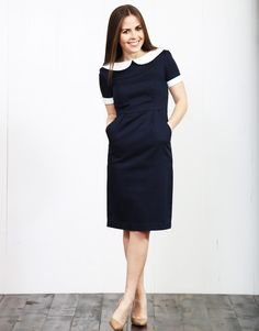 HOW ABSOLUTELY PERFECT! The Wendy Dress :: Navy  www,dresscorilynn.com
