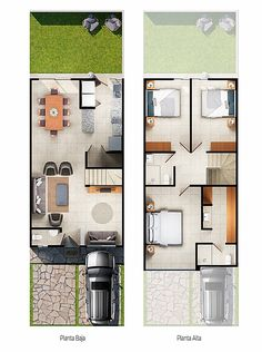 Modern Small House Design, House Front Design, Minimalist House Design, Dream Home Design, Home Design Plans, 20x30 House Plans, New House Plans, House Floor Plans, Architecture Blueprints